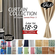 Blackout Curtains★30 Designs★Sunlight Blockout★Home Decor★Customize to Your Size