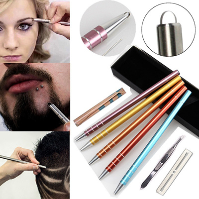 Hair Styling Eyebrows Beards Pen Razor Salon Engraved Pen/10 Pcs Engraving  Pen Dedicated Blades/Stai