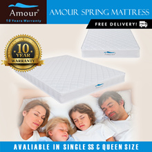 Amour® Single/Super Single/Queen Size Spring Mattress 10 Years Warranty Free delivery