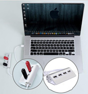 Hub / USB2.0 HUB USB2.0 four-port hub Super high speed 2.0 HUB all aluminum alloy material USB2.0
