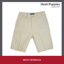 HUSH PUPPIES MENS COTTON TWIL BERMUDA WITH/WITHOUT WAISTBAND #10063143433/10063143434