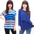 HOT TRend Women Tees/Blouse 2pcs lookalike/tiedye tees-best seller women blouse