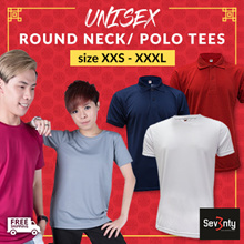 ★SUPER SALE★ Sev3nty UNISEX Casual Wear ★ Size XXS to XXXL ★Available in Round Neck / Polo