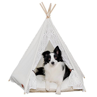 sale retailer 5abfd f99a0 [LITTLE DOVE] PET-243 - Pet Teepee Dog(Puppy) & Cat Bed - Portable Pet  Tents & Houses for Dog(Puppy)