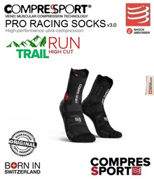 Compressport Pro Racing Socks V3 Trail Smart Black. FREE SHIPPING!!!