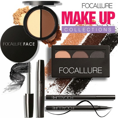 FOCALLURE MAKE UP COLLECTIONS | blush on eye shadow eyebrow mascara eyeliner Deals for only Rp85.000 instead of Rp207.317