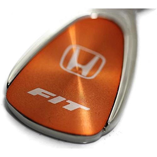 Honda Fit Logo Orange Tear Drop Key Chain