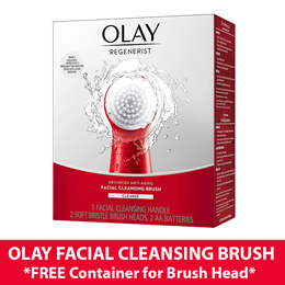*FREE-GIFT* Olay Regenerist Advanced Anti-Aging Facial Cleansing System Face Brush with 2 Heads