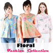 Flower Embroidery-Cut Off Shoulder Shirt Dress Jacket-Tunik Bordir- Blouse Dress / Baju Wanita