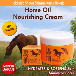 Japan Horse Oil Cream Body Face Itchy Dry Skin Showa Shinzan Kuma Bokujo [Only Approved Seller]