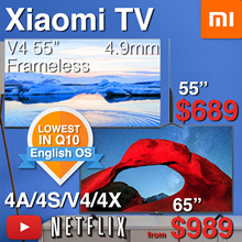 SG*Lowest Price❤LOCAL-WARRANTY❤Xiaomi TV Smart Android 4K TV 55 65 inch