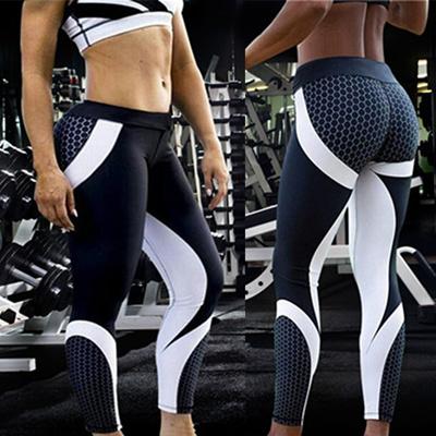 13798322b57f31 Mesh Pattern Print Leggings Fitness Leggings for Women Sporting Workout  Leggins Elastic Trousers Sli