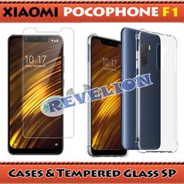 ★NEW★ [Stocks in SG] Xiaomi Pocophone F1 / Xiaomi Poco F1 Case Tempered Glass Screen Protector
