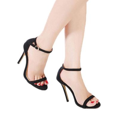 Women Heel Strap Open Qoo10 High Sexy Female Ankle Sandals Buckle 7gYb6vyfmI