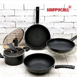 [HAPPYCALL] Happy Call Diamond frying pan Black Edition four Happycall Frypan Black edition 4pcs
