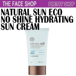 ★The Face Shop★[피지잡는선]  NATURAL SUN ECO No Shine Hydrating Sun Cream(50ml)