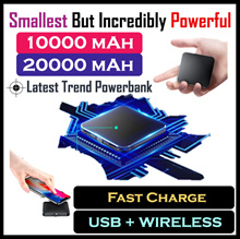 ★Coupon★Certified★Wireless Charging+USB+TYPE C+Micro-USB★Only True Capacity★Mini PowerBank Exclusive