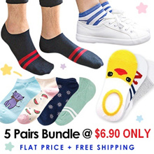 CNY Flat Price + Free Shpg★Men Women Socks Bundle★Cheapest★Best Quality★Korean Japanese Designs