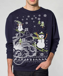 STRONGER THINGS ugly christmas sweater 11 days of Christmas - pullover sweater - sml xl xxl xxxl