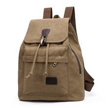 Vintage canvas travel backpack student bag leisure bucket bag factory wholesale