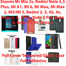 Full Cover/Adhesive Tempered Glass/Case*Xiaomi Redmi Note 5 Pro/mi mix 2s/5 Plus/Mi AI//Mi Max 2/Mi6