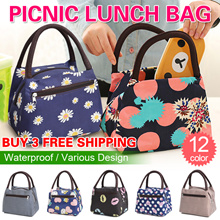 【Local Shipping】BUY 3 FREE SHIPPING!Picnic Lunch Bag/Tote Bags/Hand bags/High Capacity/School Office