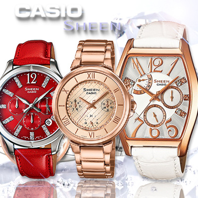 more photos 1836e d3027 [CASIO]*CASIO SHEEN Women Watches* 100% Authentic New Collection Free  Registered Shipping 1 Year Warranty!
