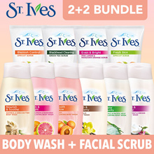 70% OFF (2 Day Sale) [St Ives] (2+2) Body Wash 400ml + Facial Scrub 170g Bundle. Mix and Match!