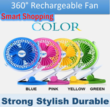 360° Rechargeable Fan portable mini USB indoor outdoor FREE Battery and cable Strong cool Wind Long