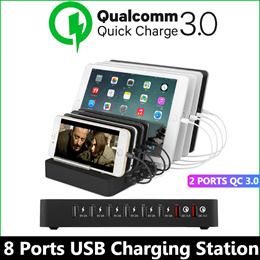 Qualcomm Quick Charge 3.0 / 8 Ports USB charging station / for iPad iPhone Androids / Quick Charger
