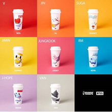 ♥[BTS OFFICIAL]♥ BT21 REUSABLE CUP / BTS x DUNKIN DONUT COLLABORATION CUP / BTS GOODS / BANGTAN