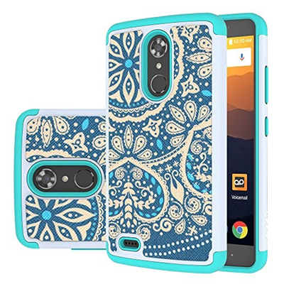 ZTE Max XL Case, ZTE N9560 Case, LEEGU [Shock Absorption] Dual Layer Heavy  Duty Protective Silicone