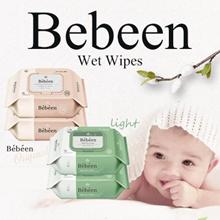 ◆ Korea Authentic Wet Wipe ◆ Bebeen Premium Wet Wipes Pink Green 7packs ◆ baby wipes / Safe baby