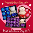 ★ Valentine Best Gift ★ 3/6/12 Roses with Cute Bear + Premium Gift Packaging ★ Ready stock ★