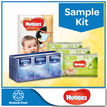 Sample Kit [Huggies Gold Pants Sample Pack + 3 x Huggies Nourishing WIpes 10s + Kleenex Hanky]