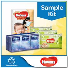 Sample Kit [Huggies Gold Pants Sample Pack + 3 x Huggies Nourishing WIpes 10s + Kleenex Hanky]