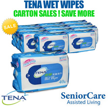 (CARTON) Tena Wet Wipes Tissue travel Men Women Tabs Cover Pail Incontinence Aids Urine