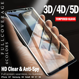 [JD Mall]📣📣3D Curve Buy1 Free 1 📣📣 Samsung S6 S7 Edge Tempered Glass Screen Protector Privacy