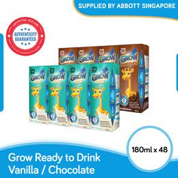 [Carton Sale] Abbott Grow Ready-to-Drink Vanilla/Chocolate (48x180ml)