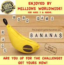 [SG] Authentic Bananagrams Word Game Anagram (Lower price as USA) with English Instructions.