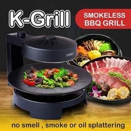 K GRILL INFRARED GRILL KG-338IG ELECTRIC BBQ GRILL (SMOKELESS)(NON OIL SPLATTERING)