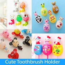 Cute Egg-Shaped Toothbrush Holder with Powerful Wall Suction | Gift Souvenir  Bathroom accessories