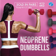 【LIMITED TIME SALE!】Neoprene Dumbbell Aerobic Mini Fitness Dumbbells Slimming weights Dumbell Yog