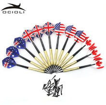 12Pcs Soft Tip Darts with 36 Extra Tips Four Kind Nice Flights Set Plastic Tips Points Needle Replac