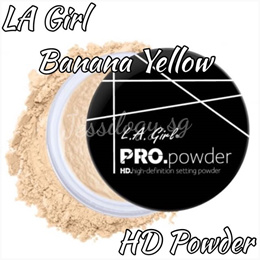 LA Girl High Definition Pro Powder / LA Girl HD Pro Banana Yellow / Transparent Setting Powder