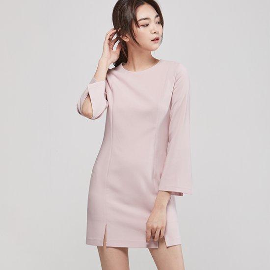 ナインNAINのベル・スリーブミニワンピースOP3140 面ワンピース/ 韓国ファッション