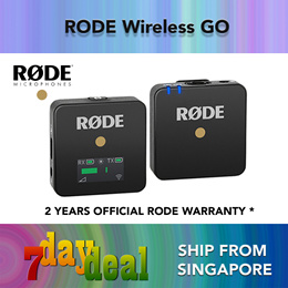 Rode Wireless GO (Black) Compact Wireless Microphone System (2.4 GHz)