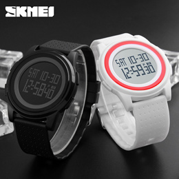 SKMEI 1206 Mens and Womens Fashion Digital Backlight LED Watch