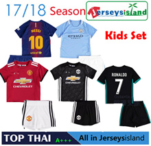 2017 17/18 Clubs Kids Jersey Manchester United Liverpool Chelsea Real Madrid Barcelona Juventus Set