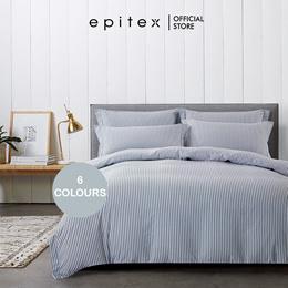 Epitex Urutora 1400TC Stonewashed Cotton Yarn-Dyed Bedsheet | 6 Colours | Fitted Sheet Set | Bedding